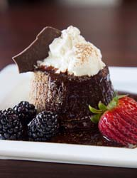 Iron City Grill chocolate molten cake
