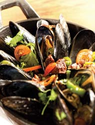 Galley and Garden mussels