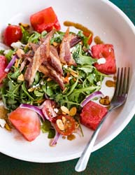 avondale common house watermelon blt salad
