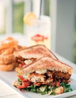 dixie fish buster crab blt sandwich