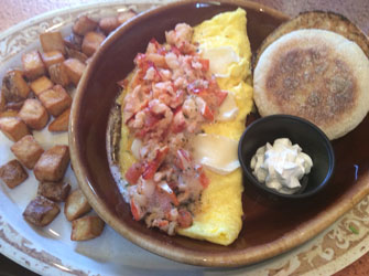 another broken egg lobster omelet