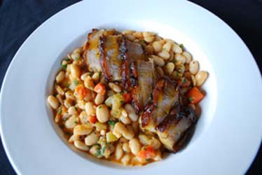 Dram pork and beans