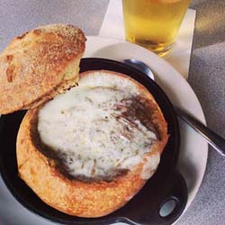 slice french onion soup
