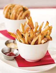 flip burger french fries