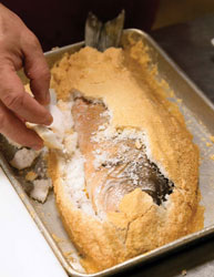 Gianmarco's salt crusted fish