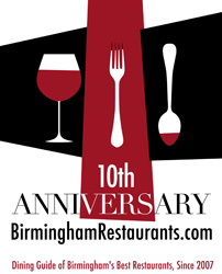 Birmingham restaurants 10th anniversary