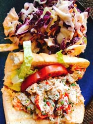 lobster roll at Bistro V