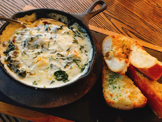 pizzeria gm crab spinach dip