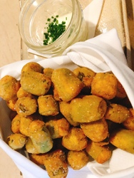 hot and hot fried okra basket