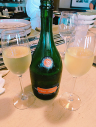 hot and hot sparkling wine