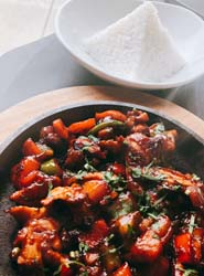 abhi chicken sizzler jasmine rice