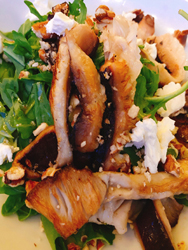 fig tree mushroom salad