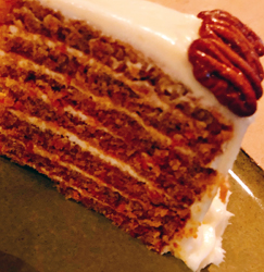 hot and hot carrot cake