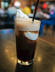 Billy's root beer float